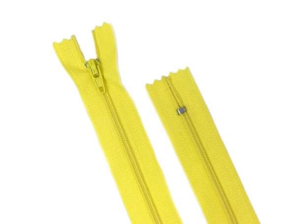 Reißverschluss - 20 cm - gelb